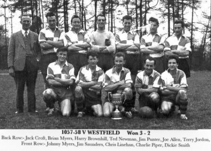 Surrey Junior Cup Winners 1957-8
