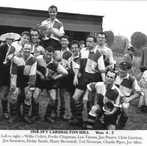 Surrey Junior Cup Winners 1958-9