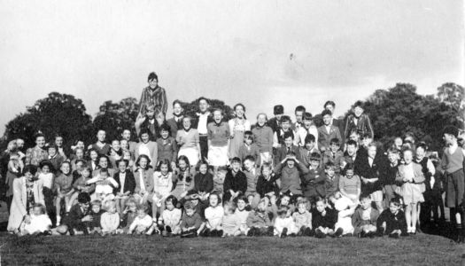 Victory Party Group of Children 1945