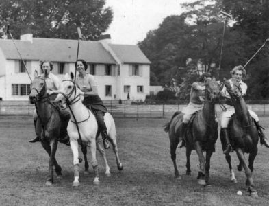 Wilmer House Polo House Ground Mrs V.Tauchert on Grey