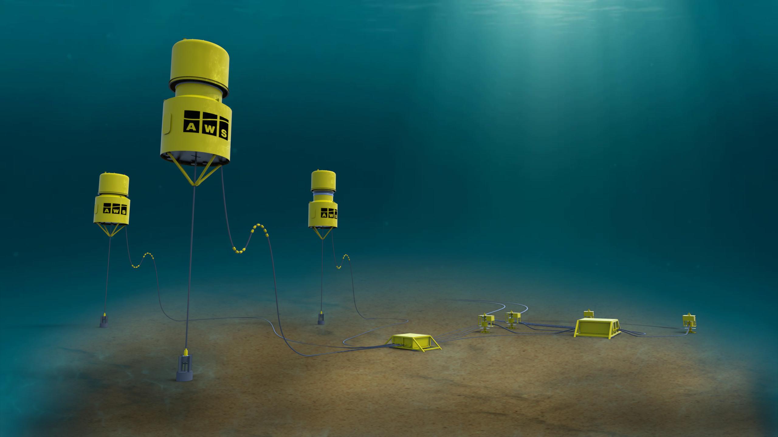 15. Waveswing Well Minder x3 piles underwater