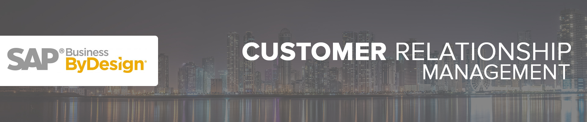 sap customer relationahip management