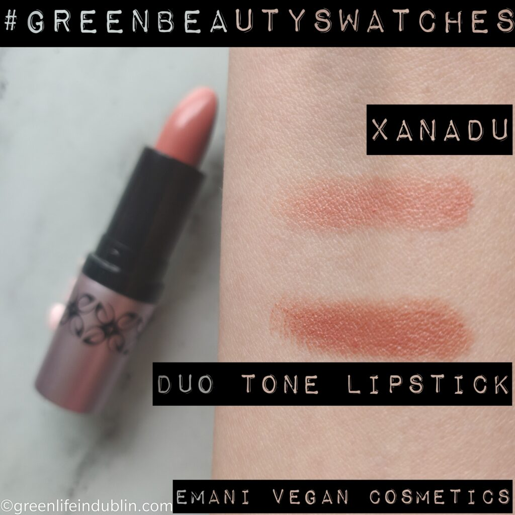 Emani Vegan Cosmetics Duo Lipstick in Xanadu swatch