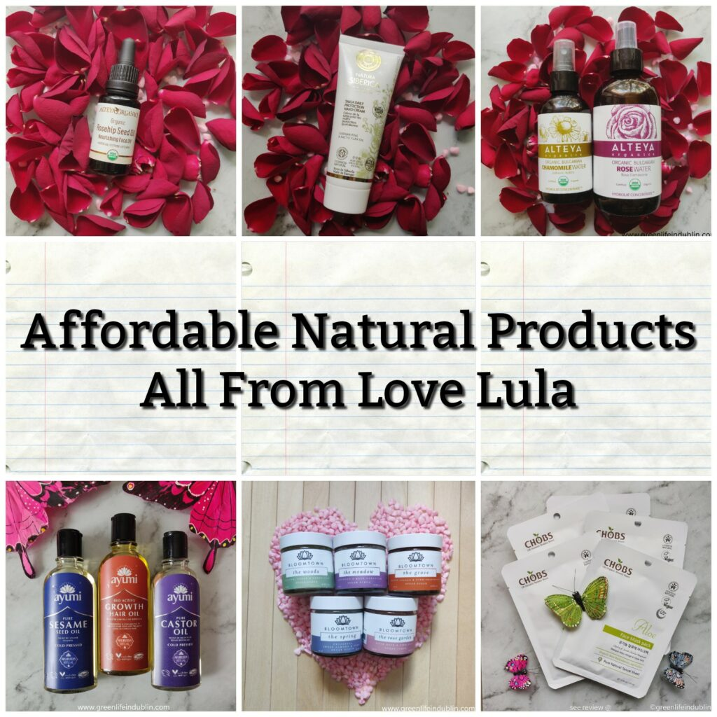 Affordable natural products - all from Love Lula