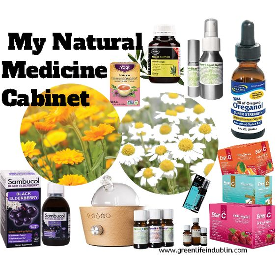 Natural and organic medicine cabinet