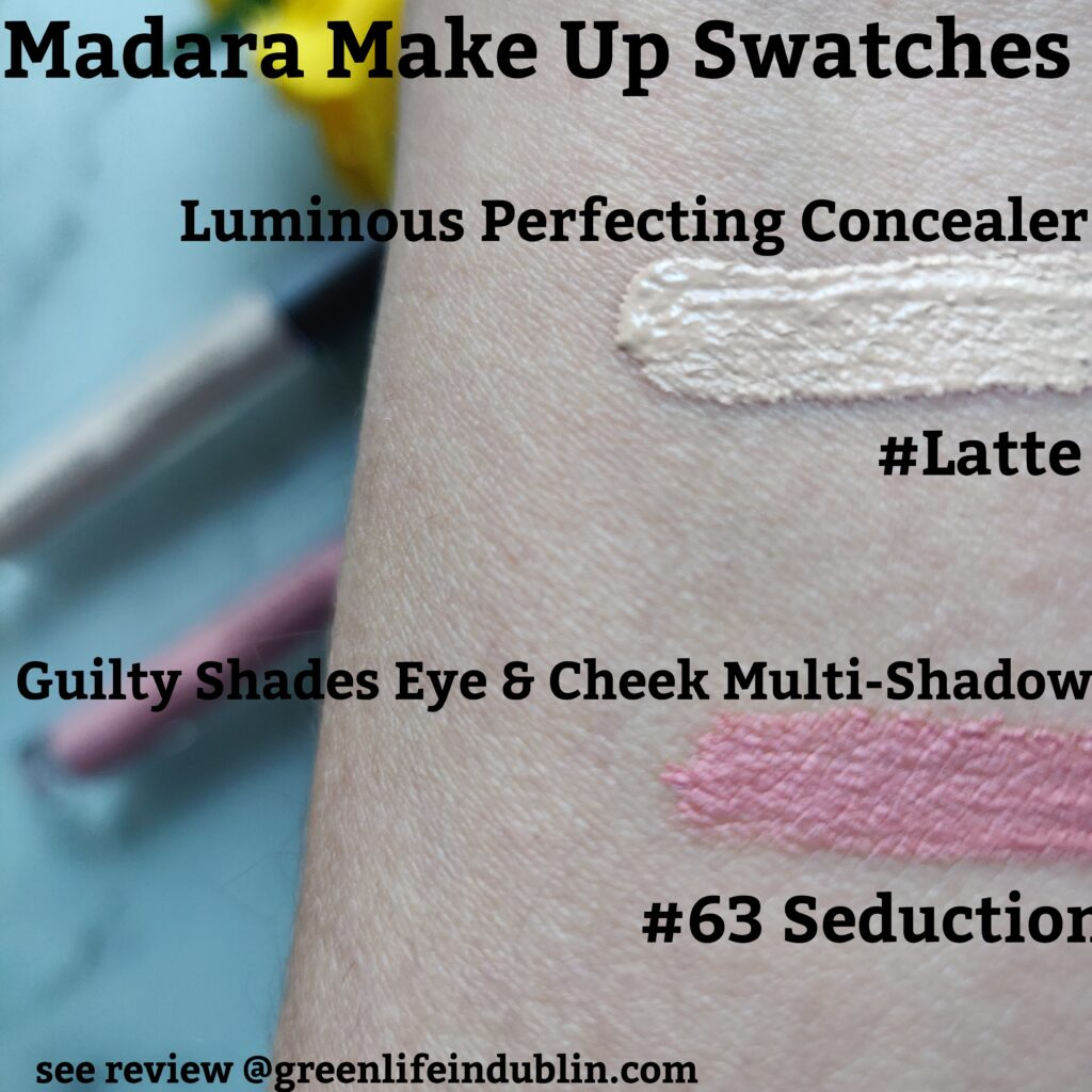 Madara make up swatches & review