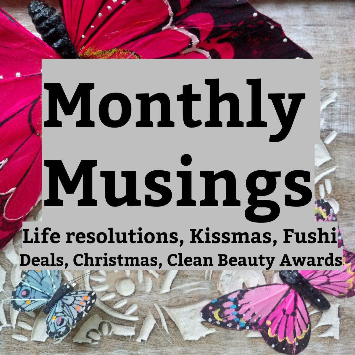 Monthly Musings – December 2019