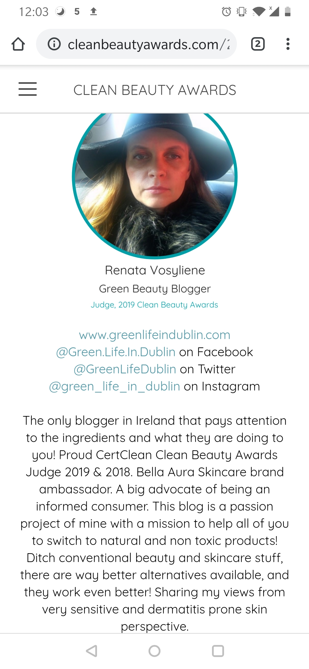 Clean Beauty Awards Judge