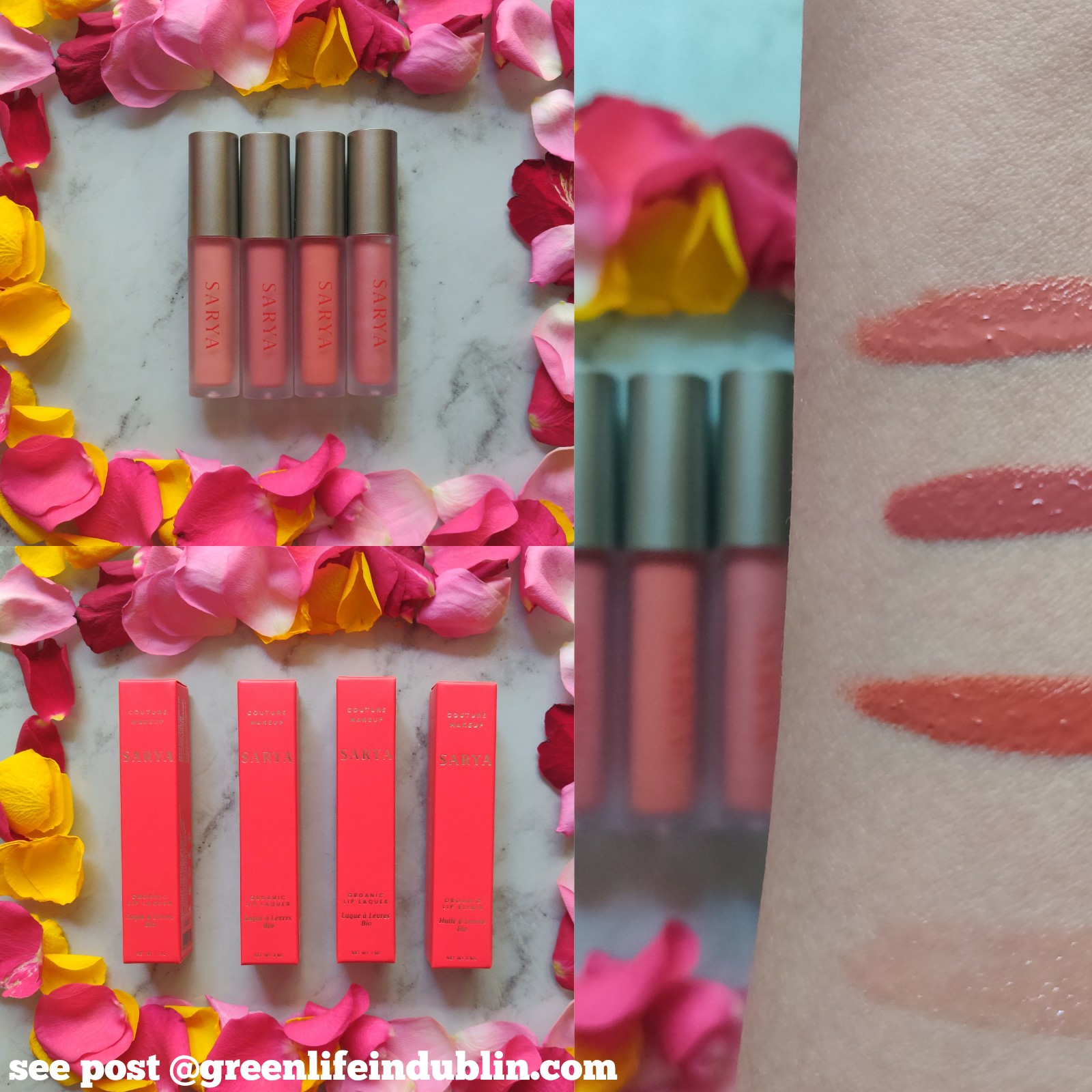Sarya Couture Lip Lacquers swatches & review