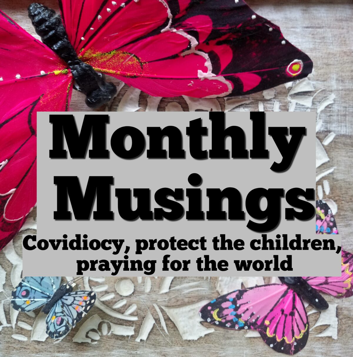 Monthly Musings – Covidiocy, protect the children, praying for the world