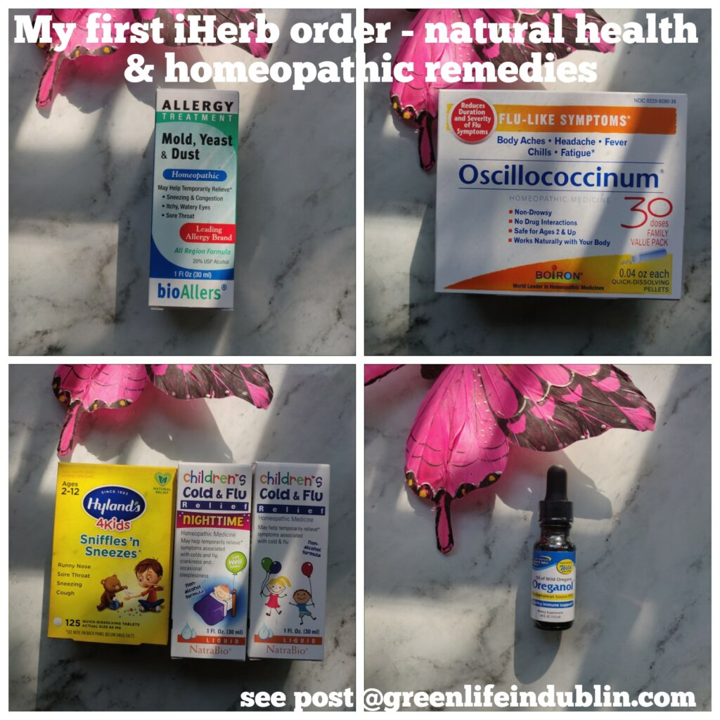 My first iHerb order - natural & homeopathic remedies
