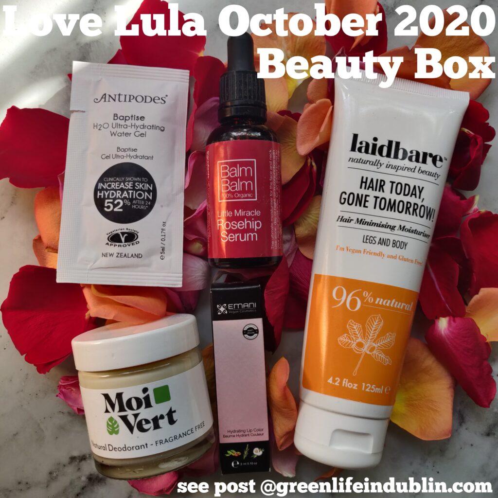 Love Lula Beauty Box October 2020