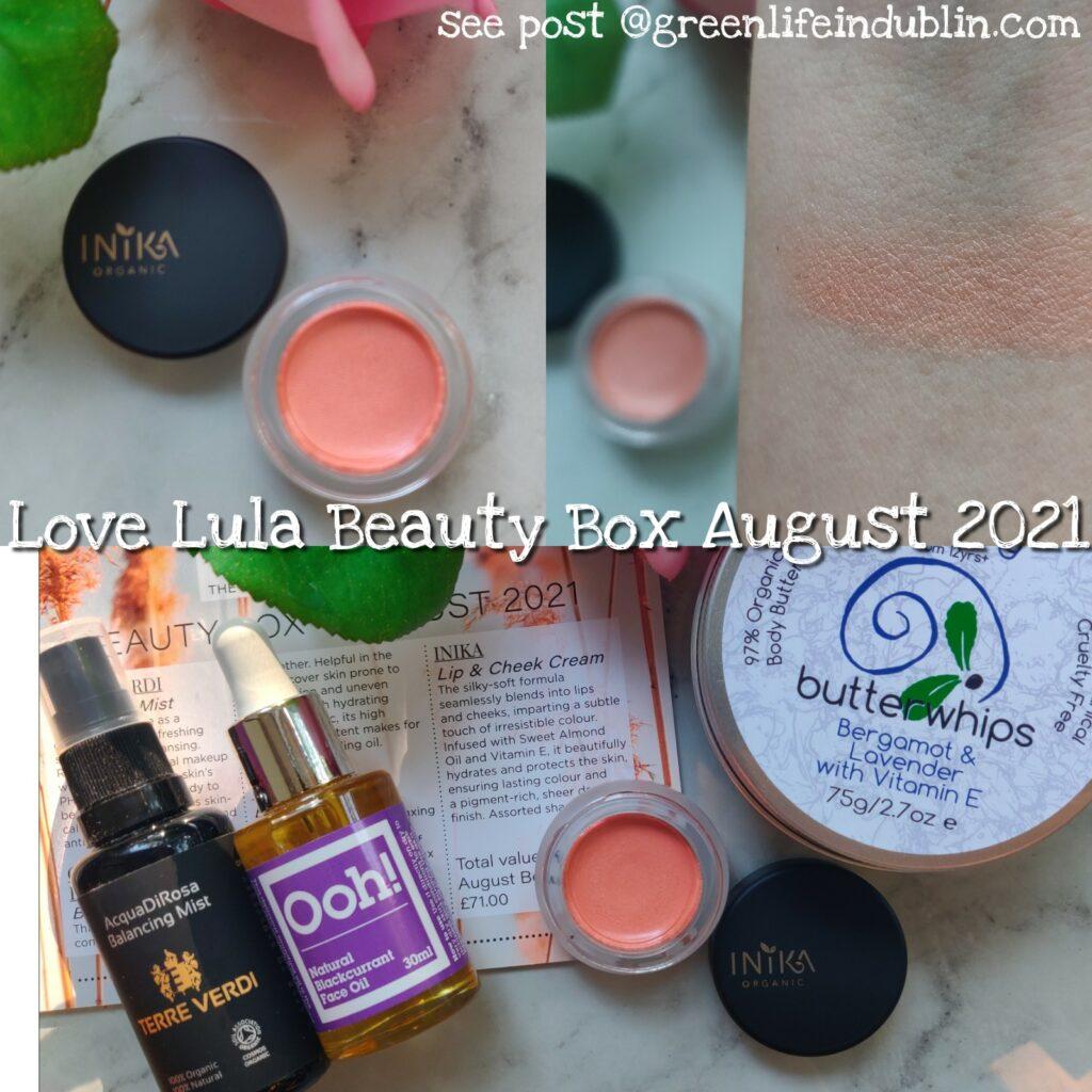Love Lula beauty box August 2021 - Green Life In Dublin