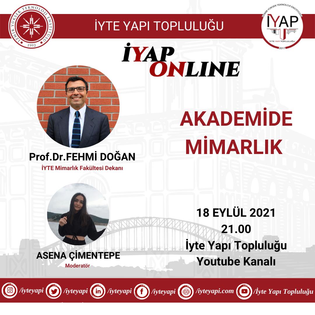 """Prof. Dr. Fehmi Doğan ile """"Akademide Mimarlık"""" Söyleşisi"""