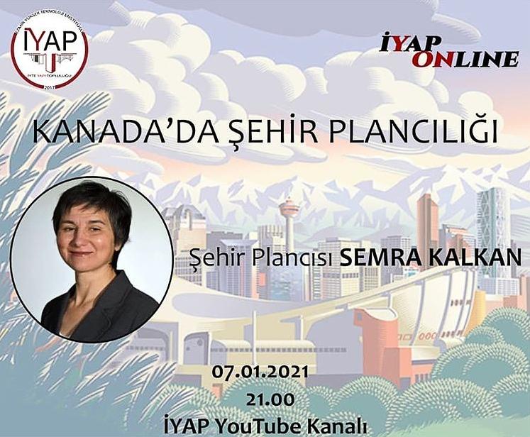 """Semra Kalkan ile """"Kanada'da Şehir Plancılığı"""" Söyleşisi"""
