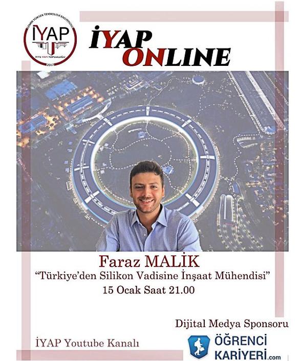 """Faraz Malik ile """"Türkiye'den Silikon Vadisine İnşaat Mühendisi"""" Söyleşisi"""