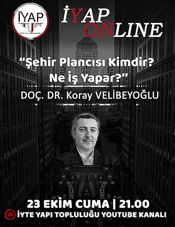 """Doç. Dr. Koray Velibeyoğlu ile """"Şehir Plancısı Kimdir, Ne İş Yapar?"""" Söyleşisi"""
