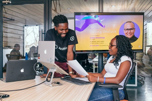 tech expo 2019 Jeremy Johnson AI Andela Google partnership with Andela and Pluralsight