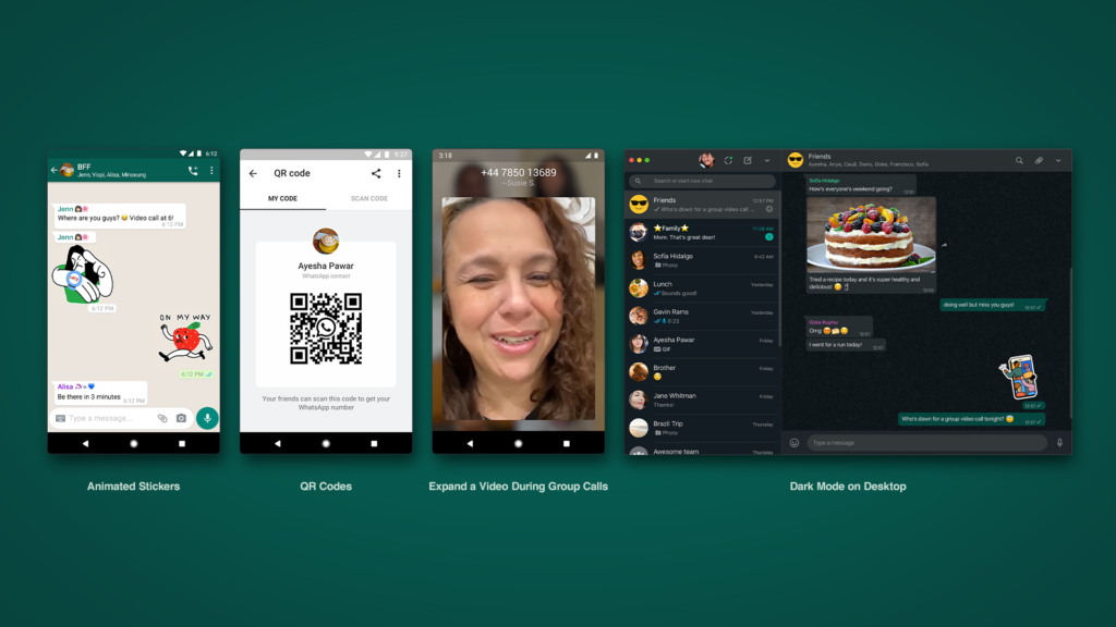 new whatsapp animated stickers qr codes features