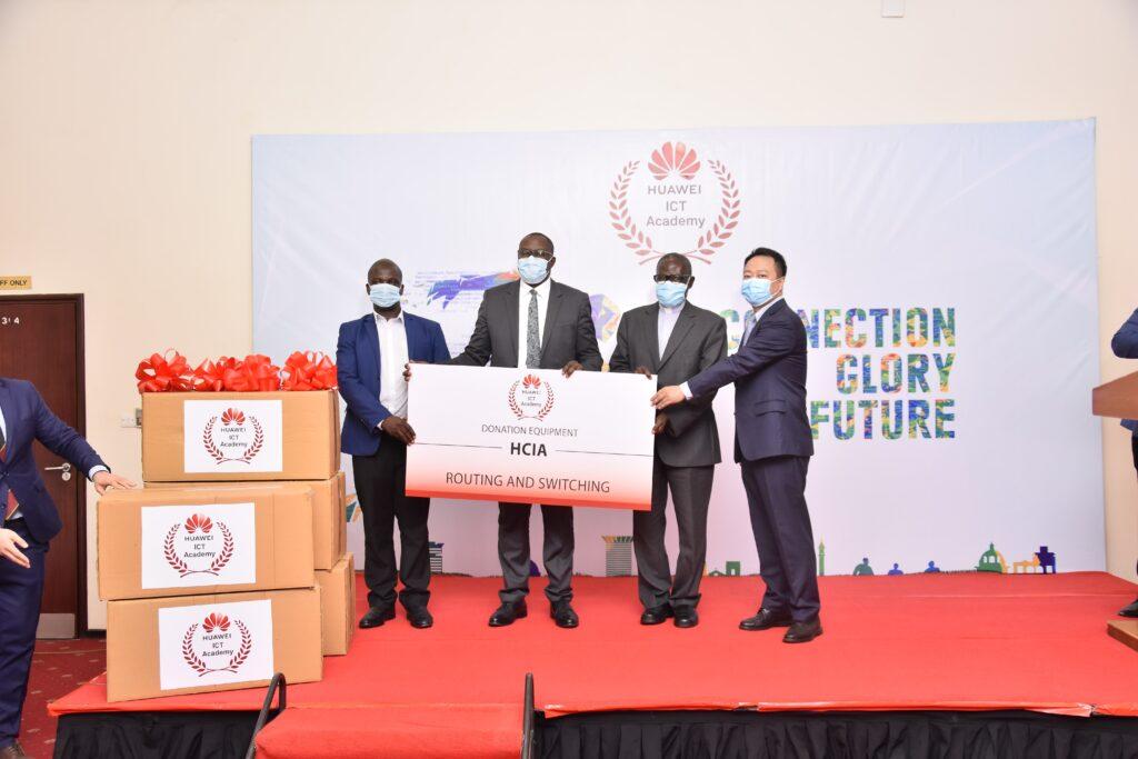 huawei uganda donates to kyambogo and nkozi university