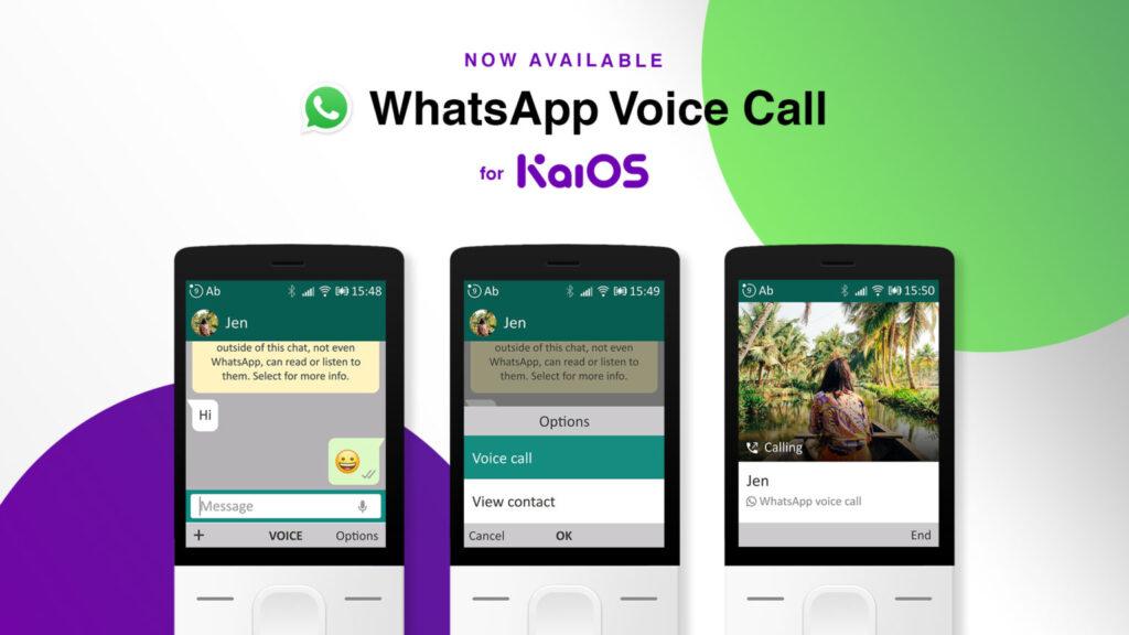 kaios whatsapp calls