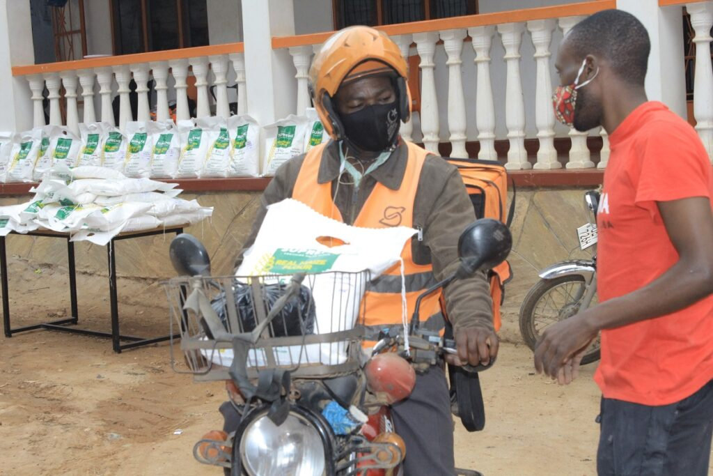 SafeBoda donates food supplies to over 3000 drivers