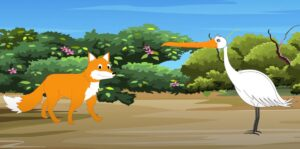 Cunning Fox and the Clever Stork