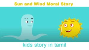 Kids Story in Tamil - The Sun and the Wind story comic