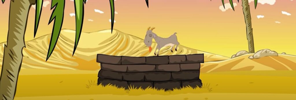 The fox and the goat short story With Moral - நரியிடம் ஏமாந்த ஆடு சிறுகதை 6