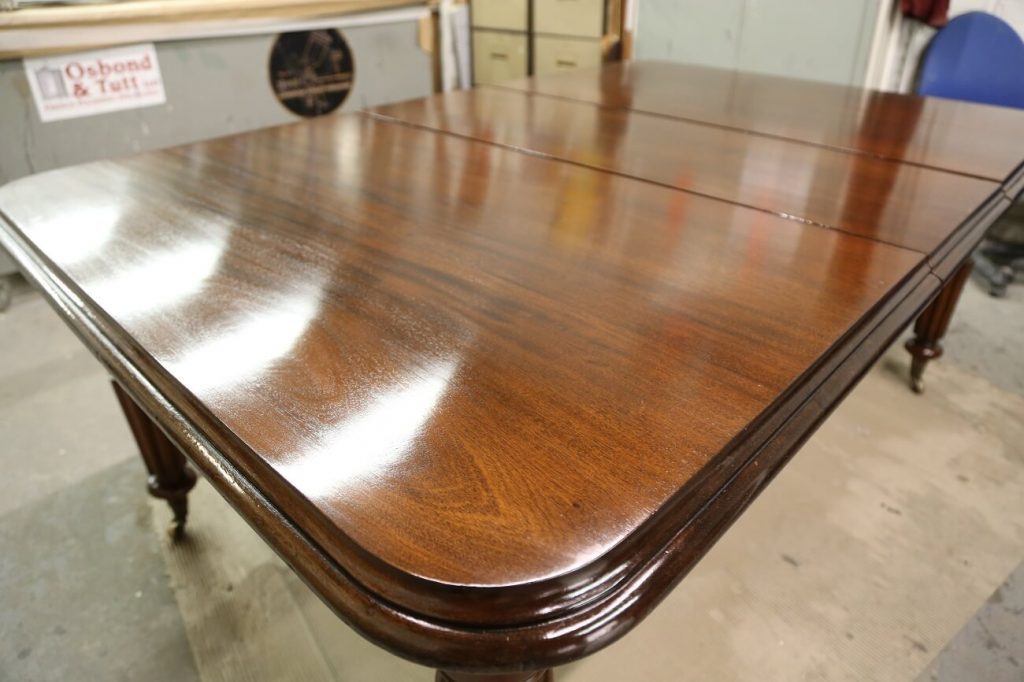 After restoration and French polishing