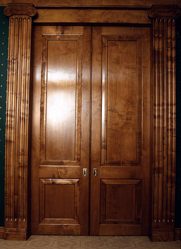 Doors - french polished