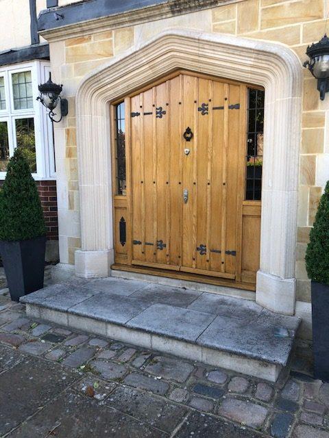Oak doors after restoration