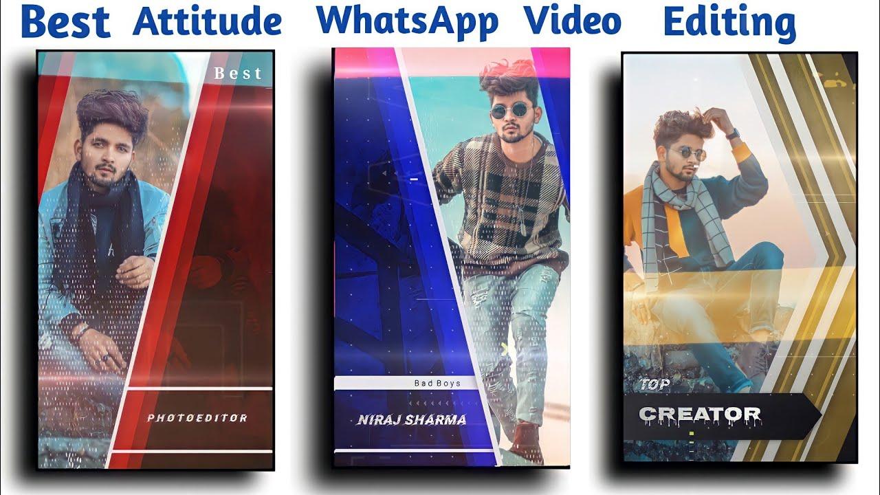 Best Attitude WhatsApp Status Editing in Kinemaster.