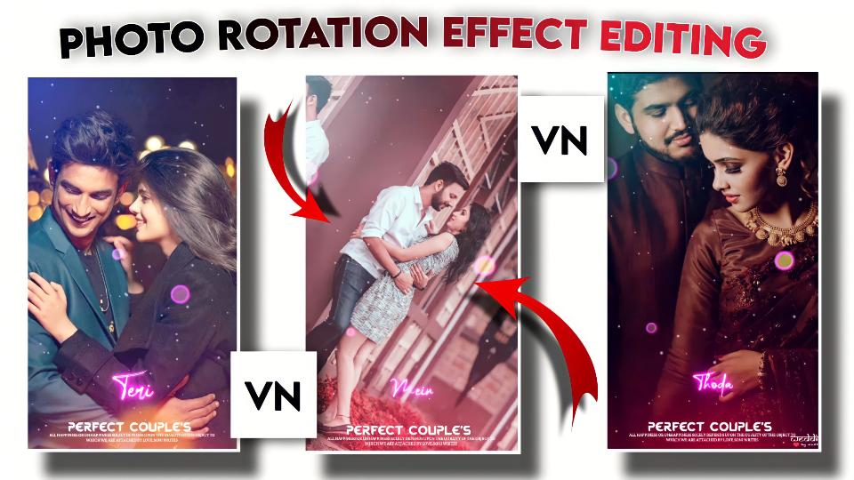 New Romantic Photo rotation effect Status Video Editing.