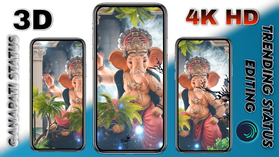 3D Trending 4K Ganapati Status editing.