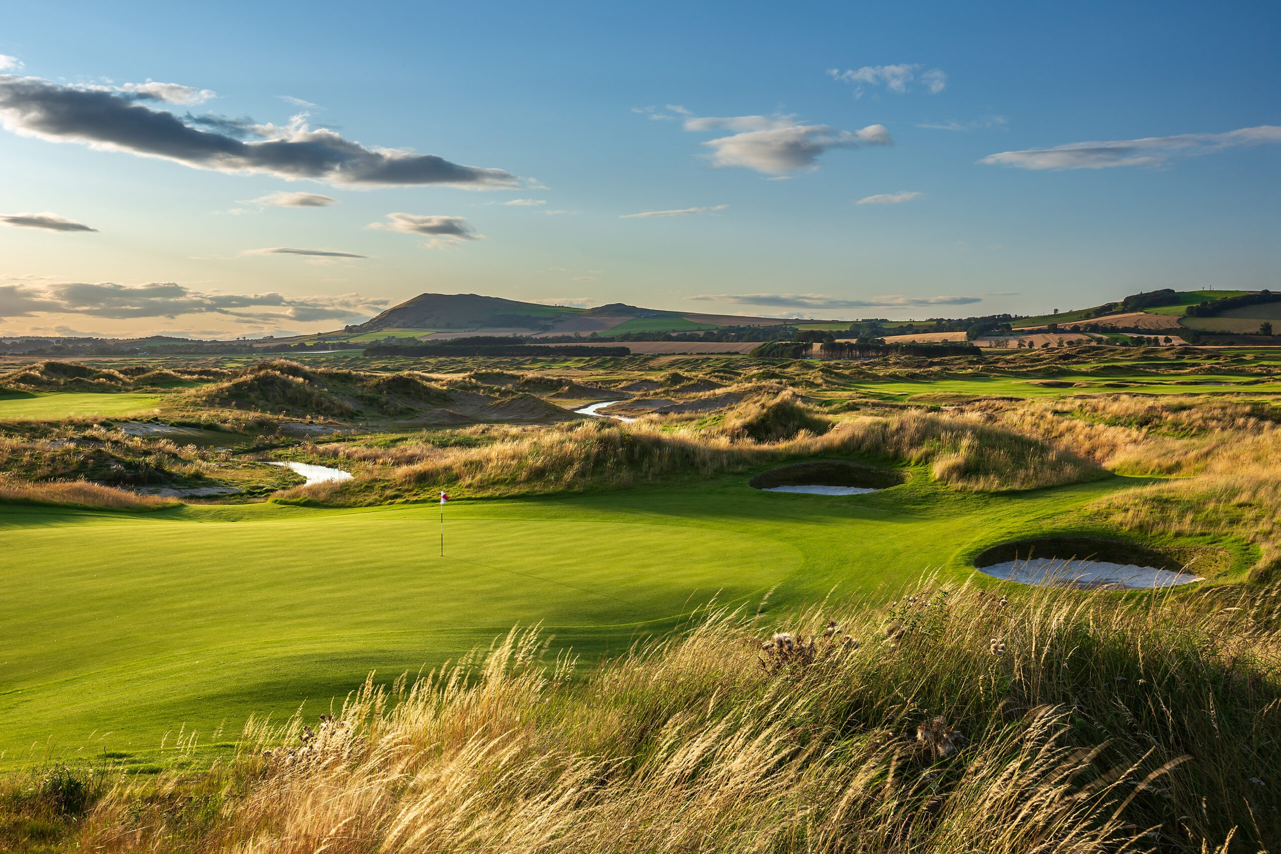 The natural beauty of the Fife coastline makes for an incredible backdrop at Dumbarnie Links. Courtesy of Dumbarnie