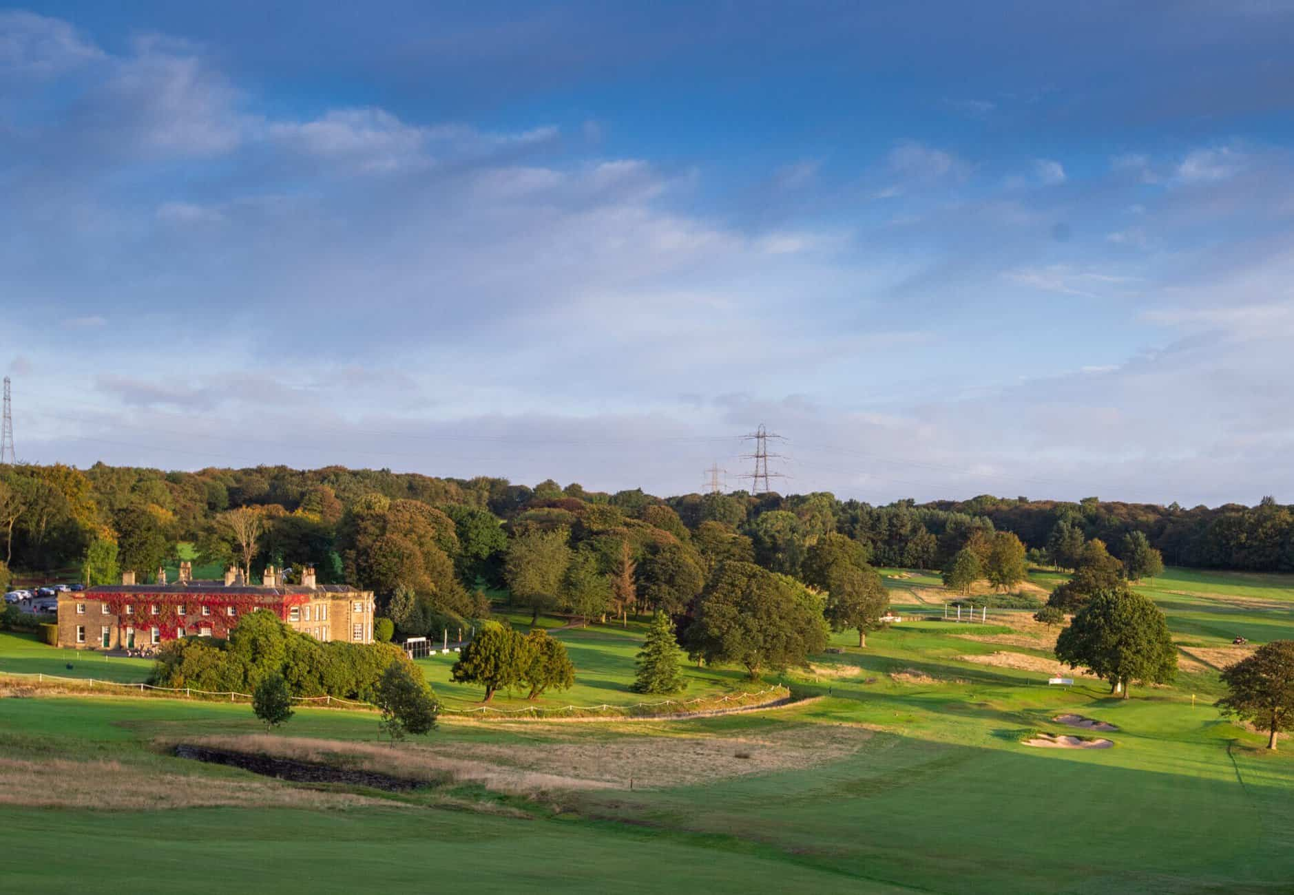 The view across the 18th at Huddersfield Golf Club
