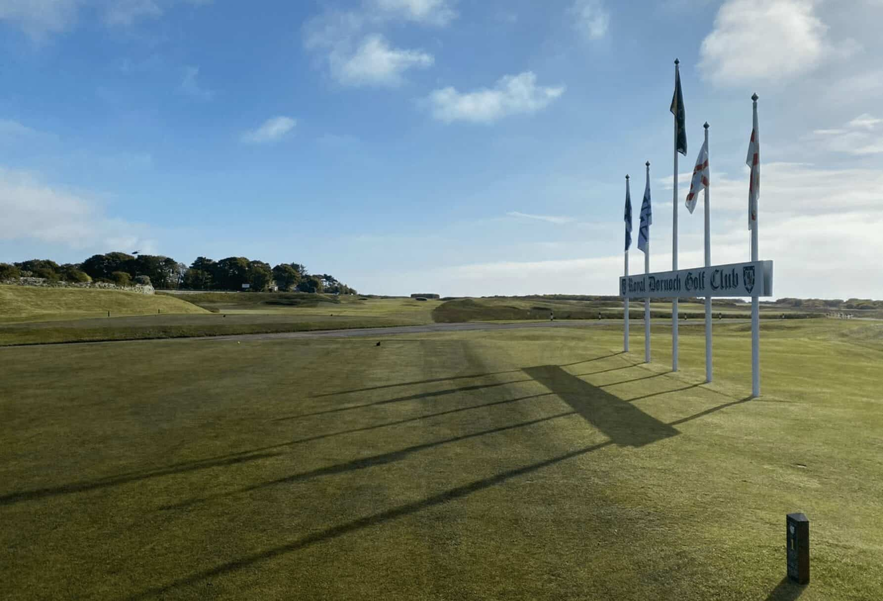The 1st tee at Royal Dornoch Golf Club