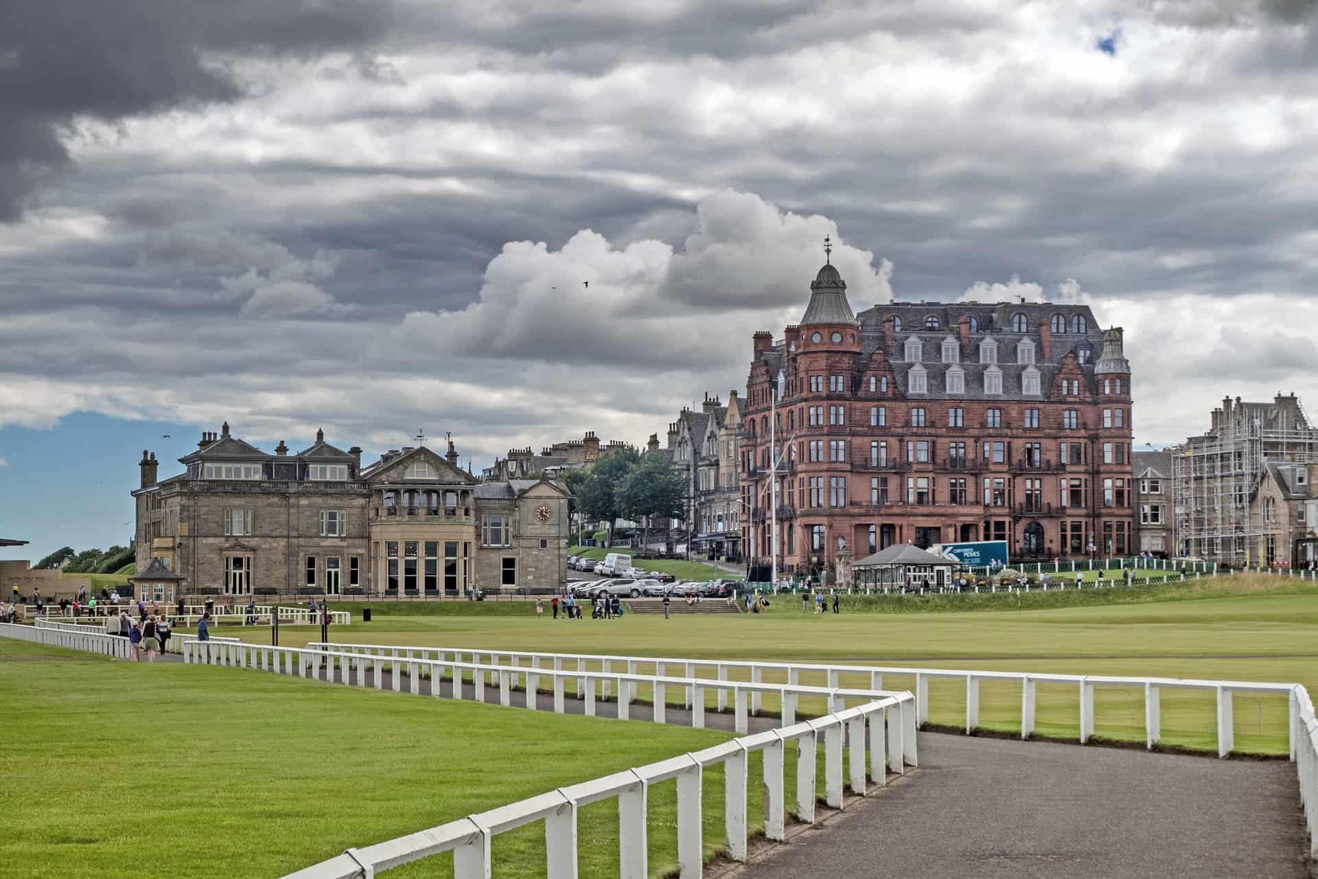 The view across The Old Course, St Andrews,