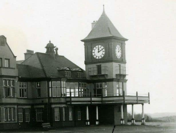 The clubhouse at Formby Golf Club as it was