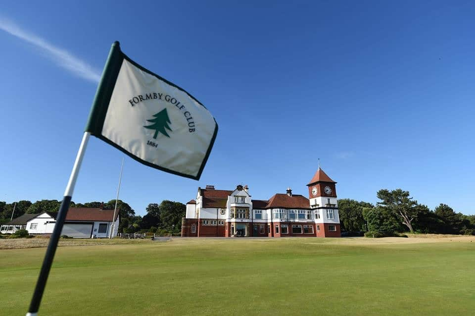The clubhouse at Formby Golf Club