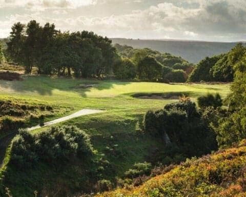 The par 3 6th at Hallamshire Golf Club