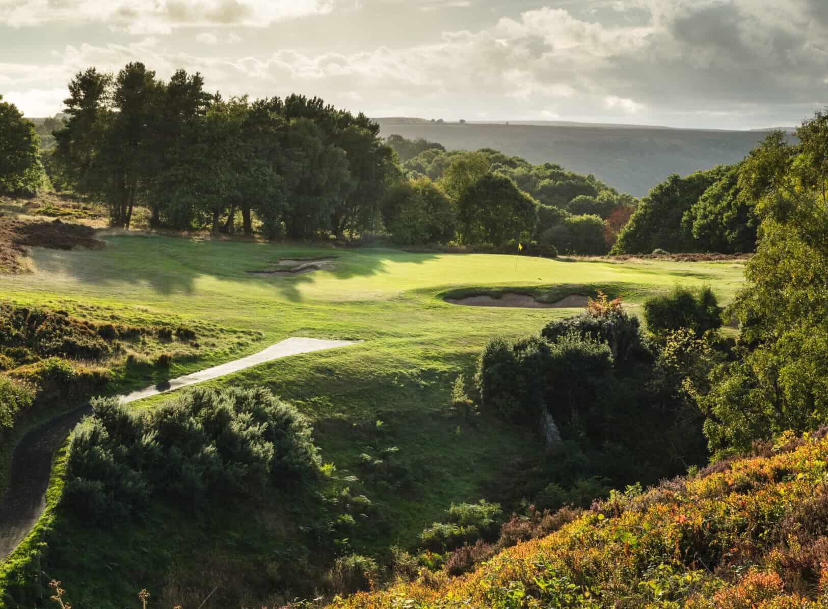 The par 3 6th at Hallamshire Golf Club