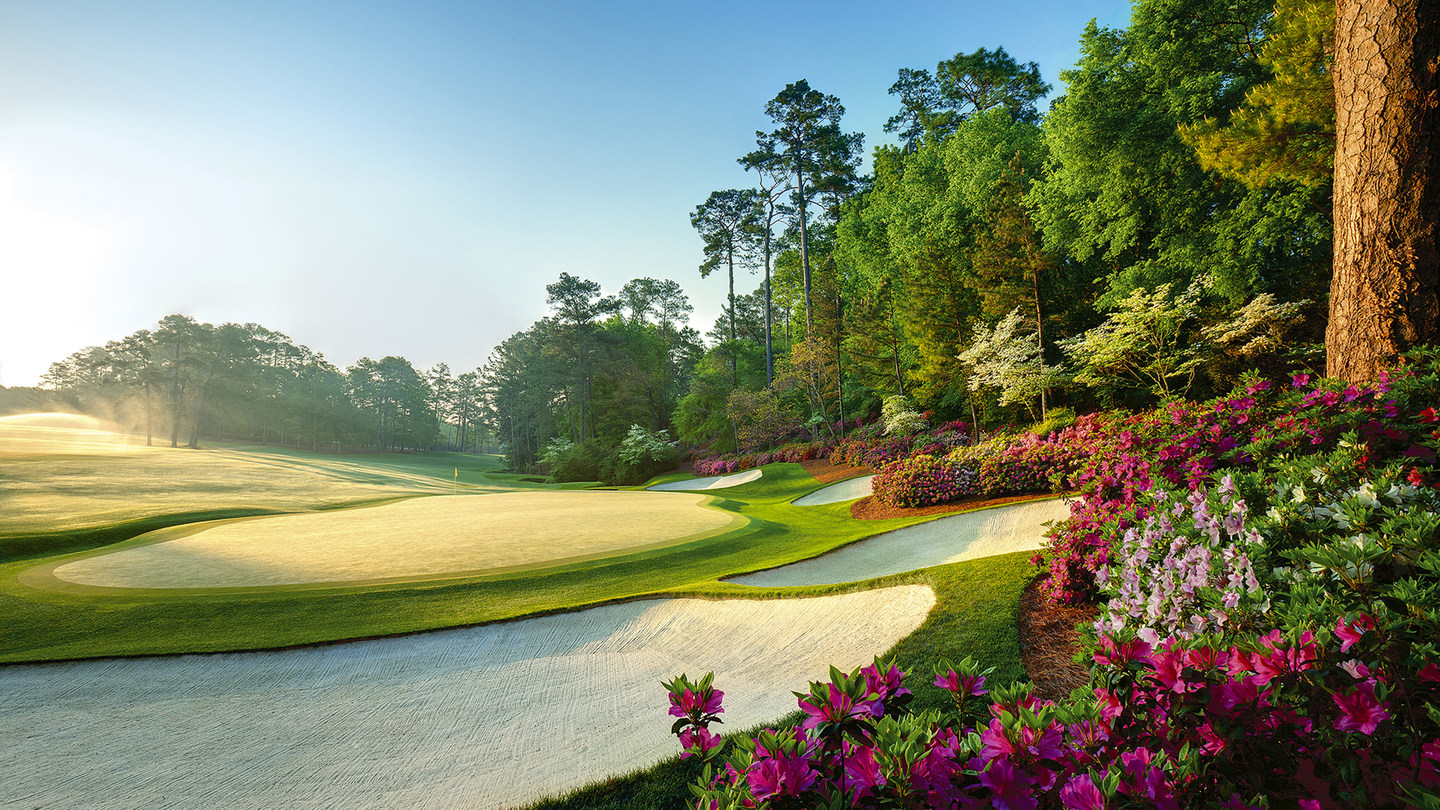 The 13th hole at Augusta National, home of The Masters