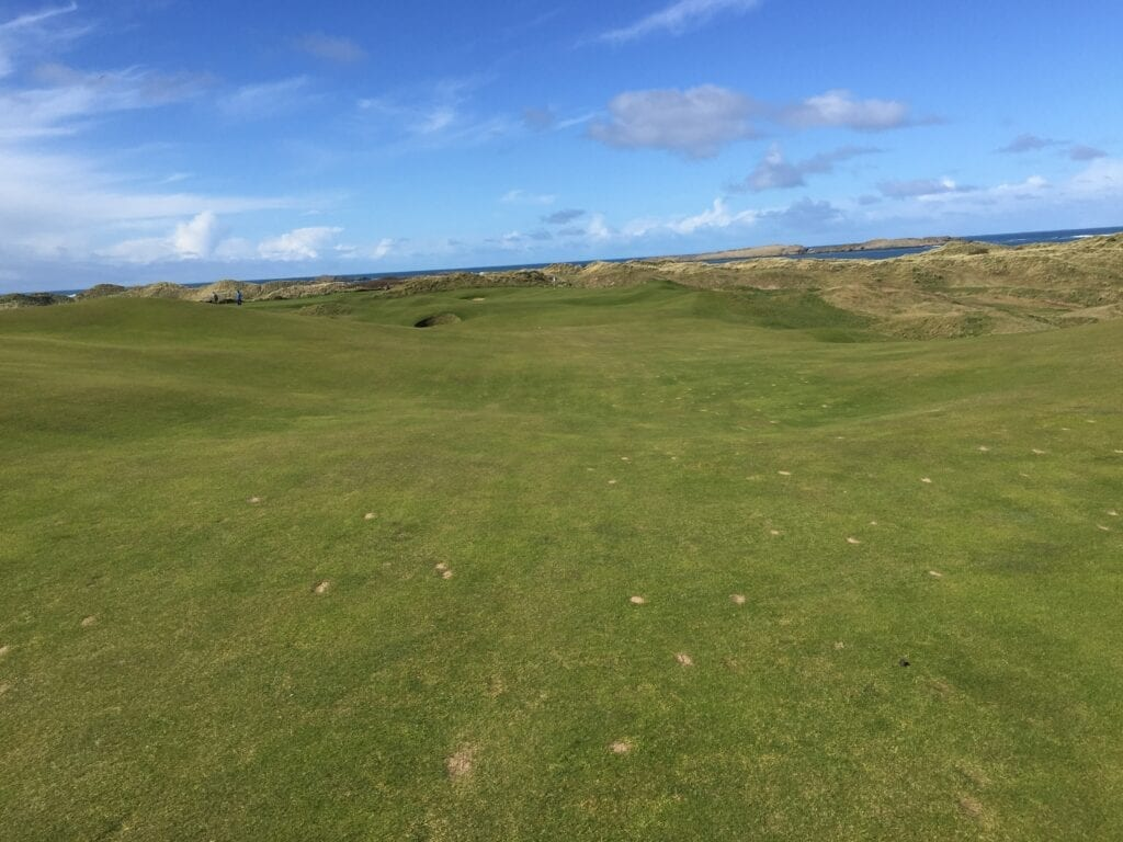 The 15th hole at Royal Portrush