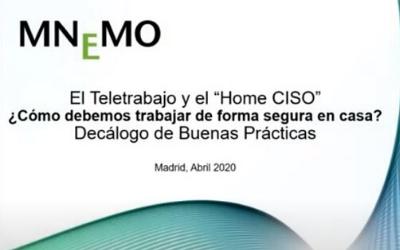 """Webinar 07/04/2020 – El Teletrabajo y el """"Home CISO"""""""