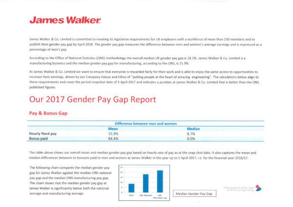 2017 gender pay gap report