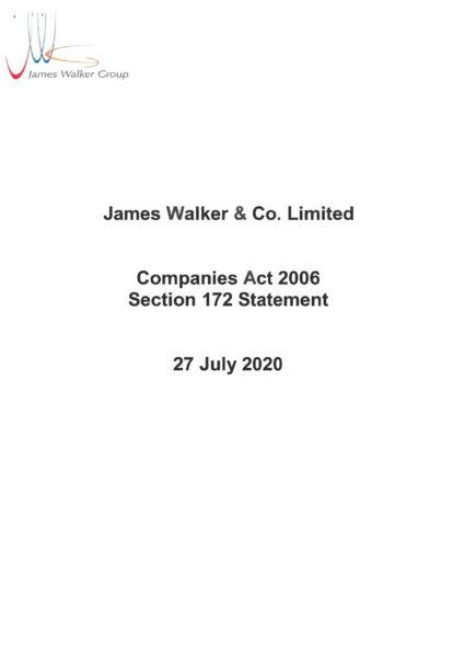 Section 172 Statement James Walker & Co. Ltd
