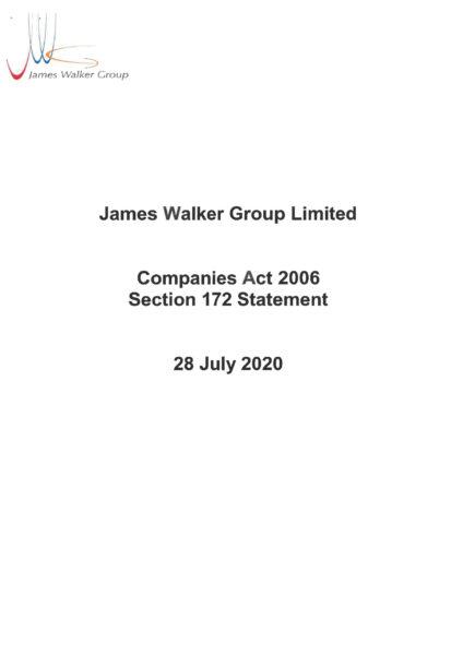 Section 172 Statement James Walker Group Ltd