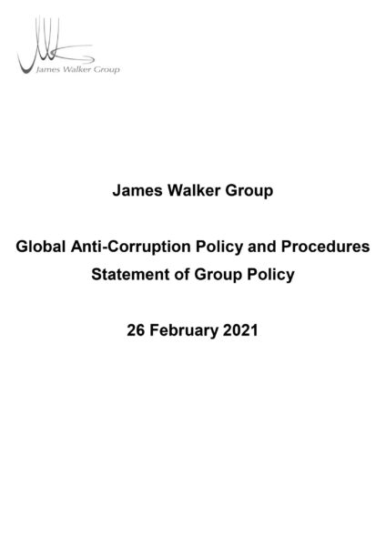 Global Anti-Corruption Policy and Procedures Statement of Group Policy